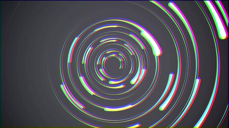 Lightning bolts round tunnel on black background illustration new quality unique nature light effect stock image .