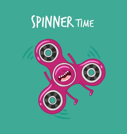 Funny spinner set. Stress relieving toy Illustration