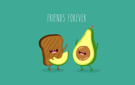 Avocado e pane integrale