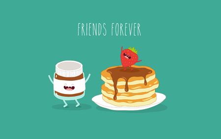 Pancakes raspberry jam