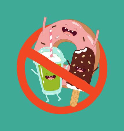 Il fast food dolce è vietato