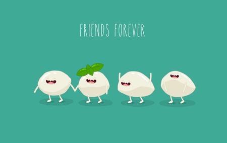 Cheese mozzarella friends