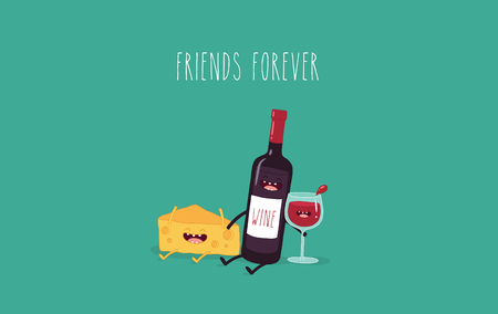 Cheese and wine friends