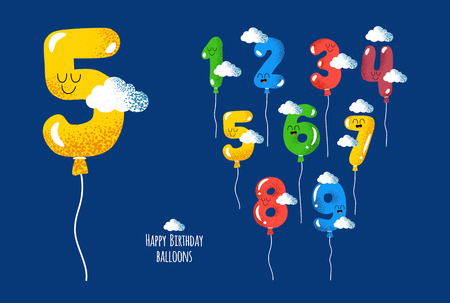 Happy birthday numbers will make your congratulations unforgettable. Vector graphics