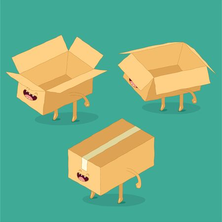 Pack your parcels with quality. Vector graphics.