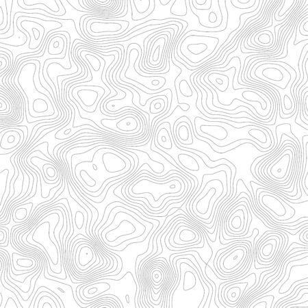 Vector contour topographic map on white background.