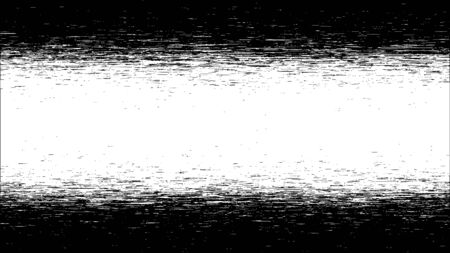 Glitch background. Abstract black and white digital noise effect, error signal, television technical problem. Vector illustration.