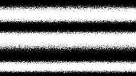 Black and white glitch background. Abstract digital noise effect, error signal, television technical problem. Vector illustration.  イラスト・ベクター素材
