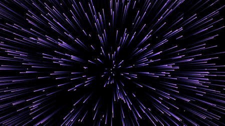 Ultra speed. Mega leap. Interdimensional jump. Stream of tributes. Warp effect. Concept of wormhole travel. Foto de archivo