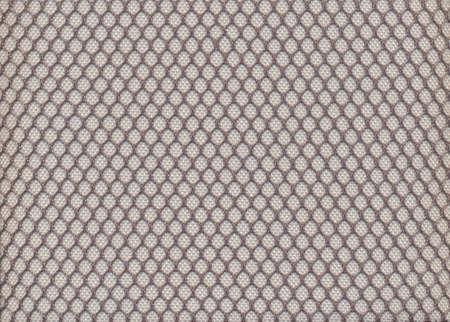 Honeycomb texture gray fabric close up photo