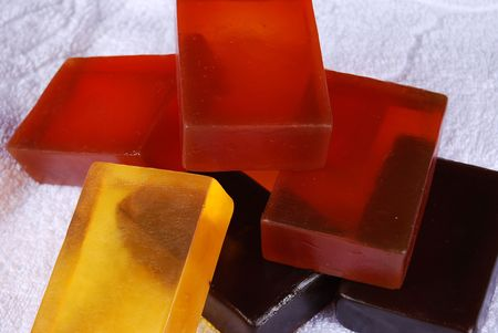 glycerin soap: Orange color, beautiful scented soaps