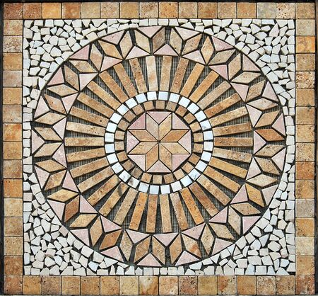 mosaic: Very nice handicraft ceramic medallion