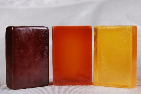 Orange color, beautiful scented soaps photo