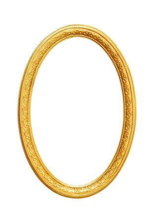 ovalo: Marco de oro viejo, muy buena