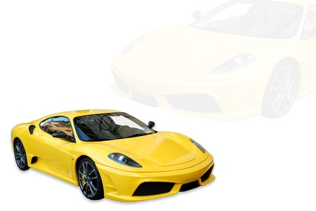 The Italian sports car side view