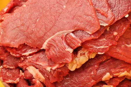 Fresh, raw meat texture of the red photo