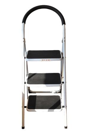Iron ladder isolated on white background photo