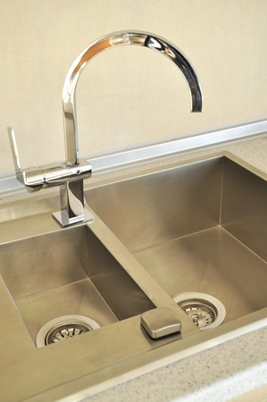 Close-up of a sink in a modern kitchen Stock Photo - 11099527