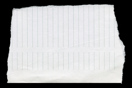 Straight line, clean white torn paper Stock Photo - 11099603