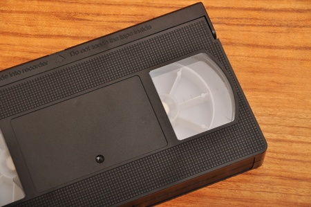 Black old VHS video cassette photo