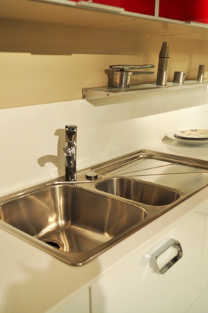 Close-up of a sink in a modern kitchen Stock Photo - 11099544