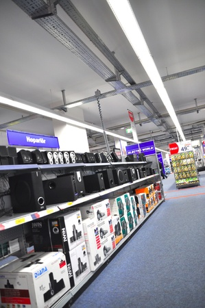 electronic commerce:  Electro World opened in 2009 istanbul Kartal, the service continues. Sound systems division Editorial