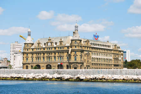 haydarpasa: Central station building of Istanbul Editorial