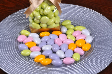 Colorful candy coated chocolate peanuts photo