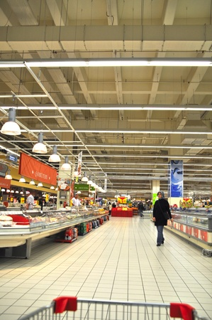 Istanbul Maltepe Carrefour has opened a new branch. Deli section Stock Photo - 11390258
