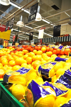 shoppingcarts: Istanbul Maltepe Carrefour has opened a new branch. Greengrocer section Editorial