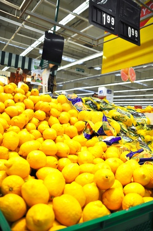 Istanbul Maltepe Carrefour has opened a new branch. Greengrocer section Stock Photo - 11390259
