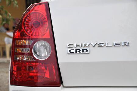 Chrysler metallic logo and tail light
