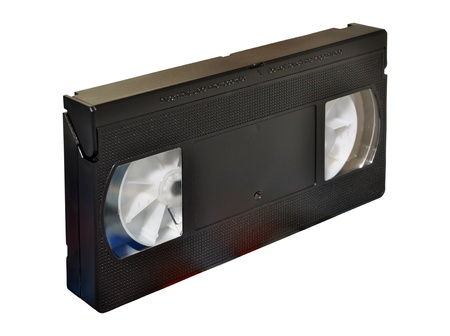Video cassette on isolated white background photo