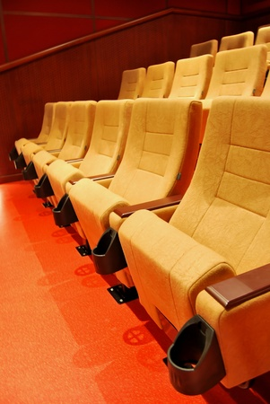 Modern cinema halls and seats