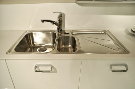 Close-up of a sink in a modern kitchen Stock Photo - 11802753