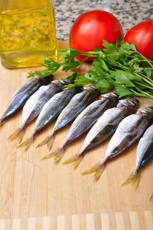 Ready to cook fresh fish photo