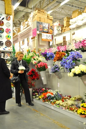Ko�taş Istanbul Kartal. Home improvement store, artificial flower section Stock Photo - 11816842