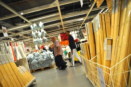 Ikea, Turkey Istanbul, home improvement store, people who shop, People who shop Stock Photo - 11816846