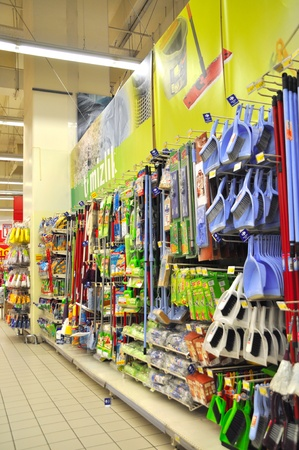Istanbul Maltepe Carrefour has opened a new branch. Cleaning materials section