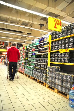 shoppingcarts: Istanbul Maltepe Carrefour has opened a new branch. Soft drinks section