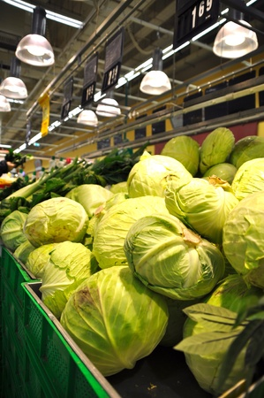 Istanbul Maltepe Carrefour has opened a new branch.  Vegetables section Stock Photo - 11719425