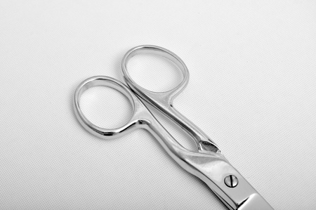 Stainless steel scissors with pointed ends photo