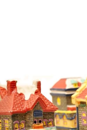 Model houses. Isolated on white background. photo
