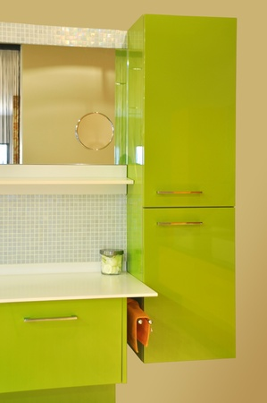 Detail from a modern and contemporary bathroom photo
