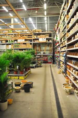 Koçtaş Istanbul Kartal. Home improvement store, garden section Stock Photo - 11906489