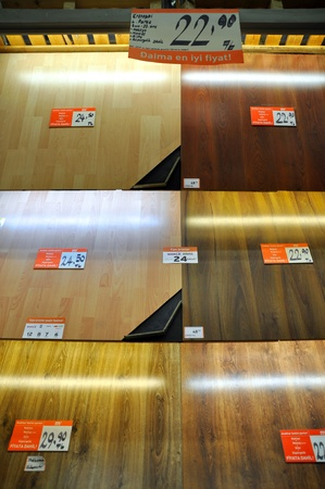 Ko�taş Istanbul Kartal. Home improvement store, parquet section Stock Photo - 11906490