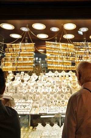 Necklaces and bracelets at Istanbul Gold Souq