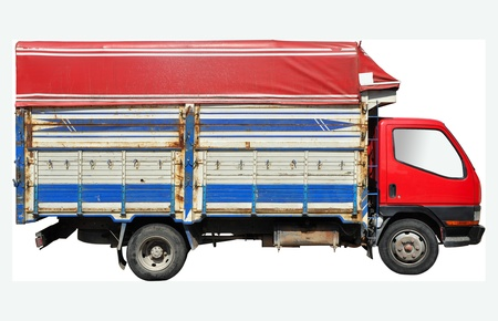 Cargo truck isolated on a white background photo