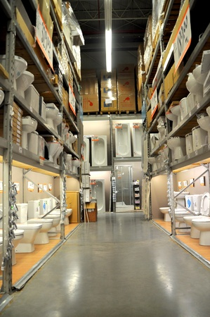 home improvement store: Ko�taş Istanbul Kartal. Home improvement store, bathroom section Editorial