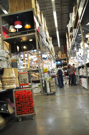 Ko�taş Istanbul Kartal. Home improvement store, large warehouse, lamp section Stock Photo - 12385545